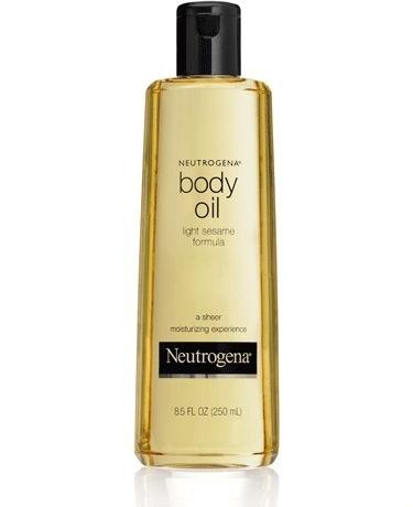 Dầu dưỡng thể Neutrogena chiết xuất từ dầu mè giúp làm trắng và dưỡng ẩm cho da