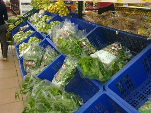 Người tiêu dùng đã bắt đầu ngó lơ với rau siêu thị