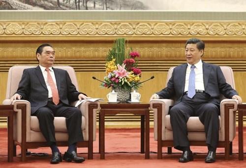 Thường trực Ban Bí thư Lê Hồng Anh hội kiến với Chủ tịch Trung Quốc Tập Cận Bình về quan hệ Việt – Trung.