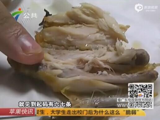 Dòi sống trong gà KFC đã từng gây xôn xao dư luận về vấn đề mất vệ sinh an toàn thực phẩm