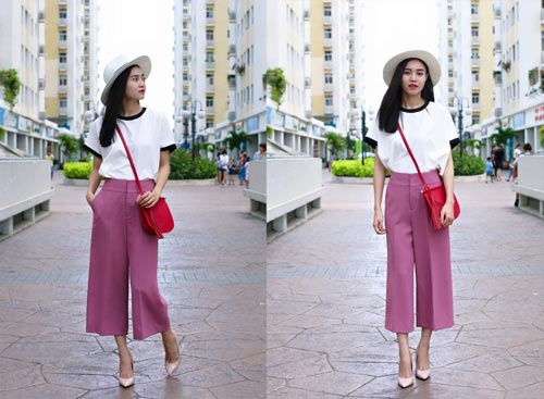 Quần culottes không chỉ thời trang, sành điệu mà còn mang lại sự thoải mái khi mặc