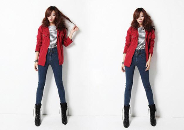Item thời trang không lỗi mốt không thể thiếu quần jean. Ảnh minh họa