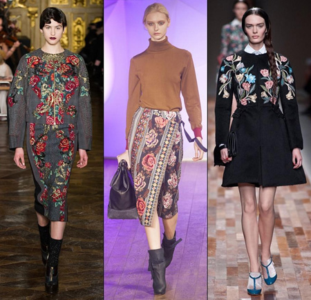 Trang phục họa tiết tinh tế, nổi bật trong thời trang mùa đông 2014. Ảnh minh họa