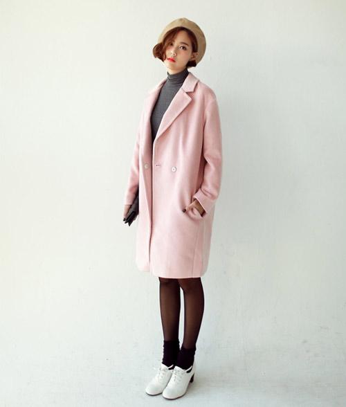 Thời trang Tết 2015 cho bạn gái miền Bắc sẽ thật trẻ trung và sành điệu với áo khoác hồng pastel