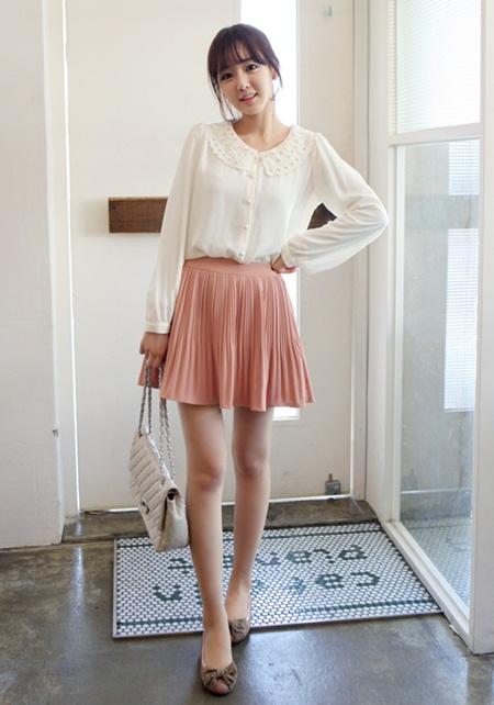 Bộ đồ màu pastel tối giản là một gợi ý hay cho thời trang Tết 2015 ngọt ngào và nữ tính