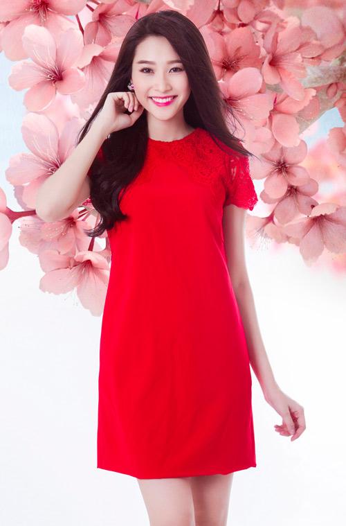 Thời trang Tết 2015 của bạn gái sẽ thật sự nổi bật với đầm màu đỏ tươi