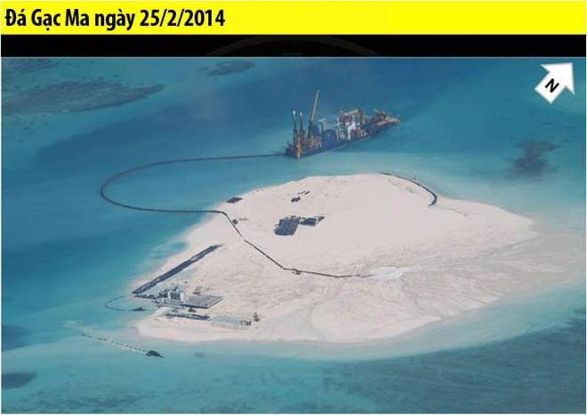 Trung Quốc xây đảo nhân tạo ở Gạc Ma, quần đảo Trường Sa