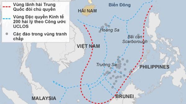 """Trung Quốc tiếp tục """"nhận vơ"""" chủ quyền trên Biển Đông"""