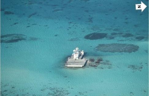 Tình hình Biển Đông ngày 25/9: Trung Quốc xây dựng công trình trái phép ở Gạc Ma