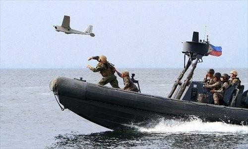Binh sĩ Mỹ và Philippines tập trận chung trên Biển Đông