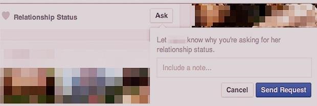 Tính năng Ask về tình trạng mối quan hệ của Facebook
