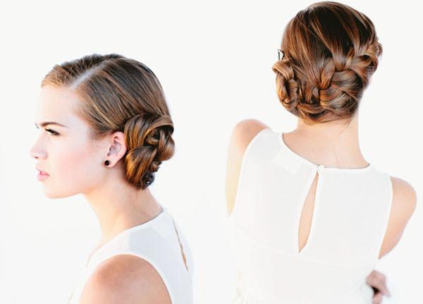 Đây là một trong những kiểu tóc đẹp cho cô dâu sang trọng, quý phái
