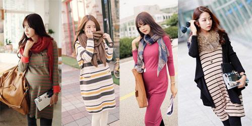 Trang phục khi ra ngoài, bà bầu có thể lựa chọn váy hoặc bộ đồ thoải mái nhất