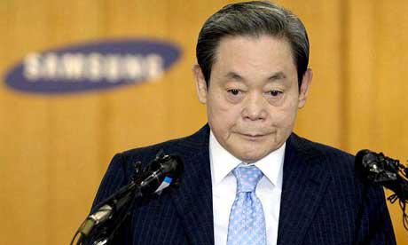 Chủ tịch Tập đoàn Samsung Lee Kun Hee trở thành tỷ phú Hàn Quốc nhờ thừa kế tài sản từ cha mình