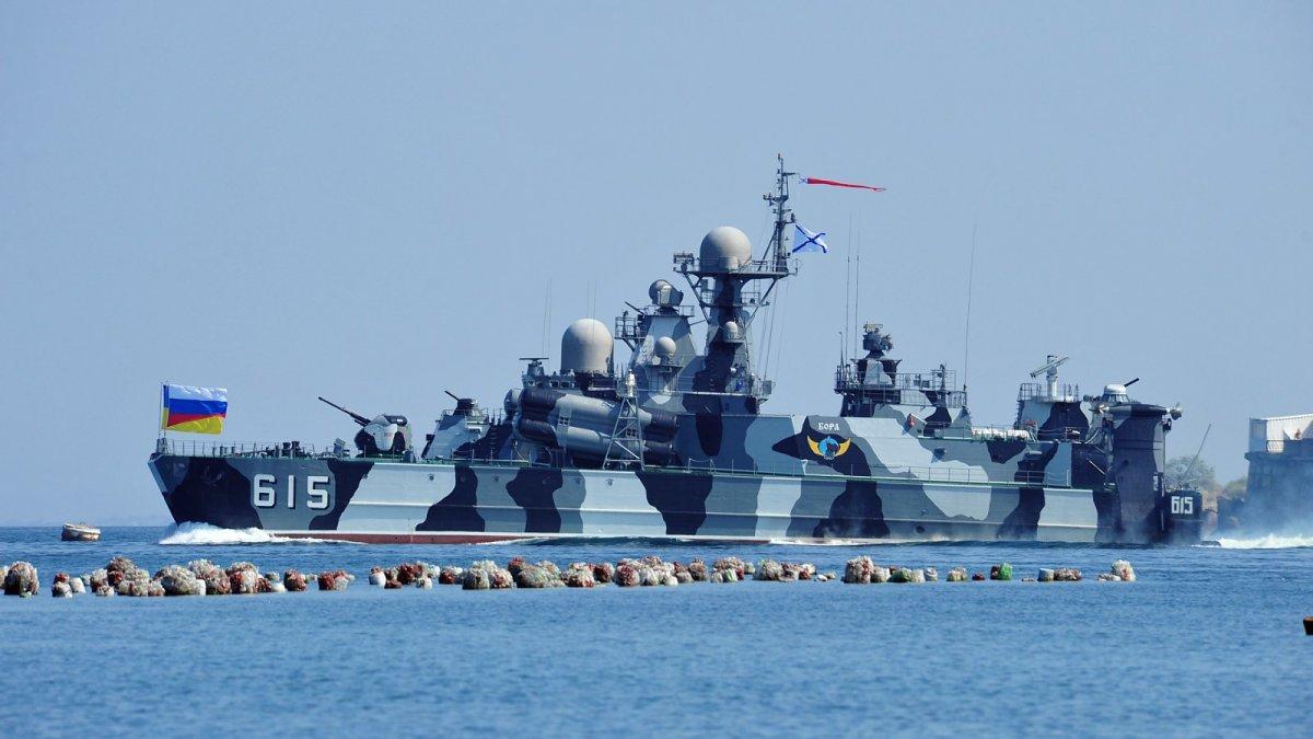 Tàu đệm khí tên lửa dẫn đường lớp Bora: Con tàu này thực sự là một chiếc bè thuyền đôi với lớp áo mạnh mẽ bên ngoài có thể biến nó thành một thủy phi cơ. Tàu được trang bị 8 tên lửa Mosquito và 20 tên lửa chống máy bay hiện đại và dùng để hoạt động tấn công tàu chiến địch trên biển. Trên tàu gồm 1 thủy thủ đoàn với 68 thủy thủ. Chiếc tàu này có tốc độ lên tới 100km/giờ