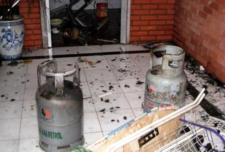 Một đồ dùng gia đình dễ phát nổ nhất là bình ga