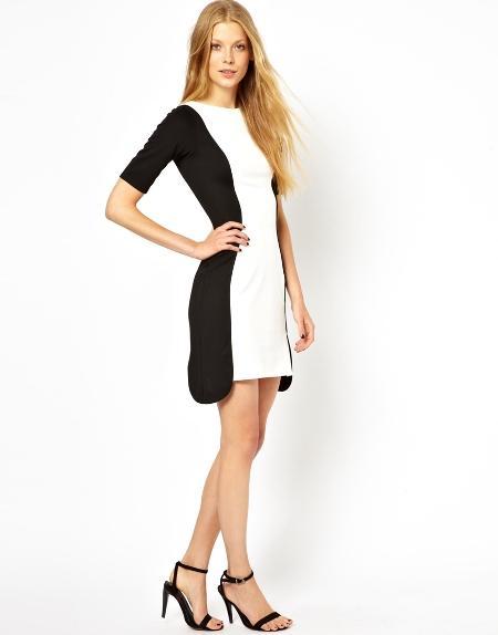 Váy công sở trắng đen tối giản nhưng vẫn sành điệu và không kém phần quyến rũ