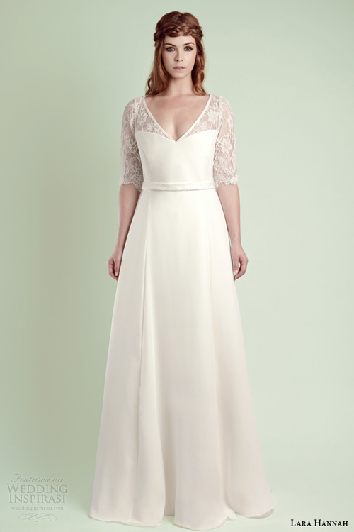 Váy cưới cho cô dâu mập mạp - Váy chữ A. Ảnh minh họa