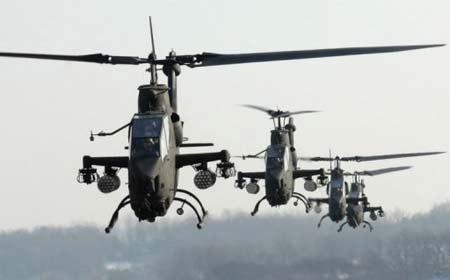 Trực thăng AH-1S Cobra là một trong những vũ khí quân sự của Hàn Quốc.