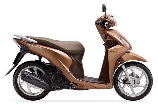 Xe Honda Vision có 3 màu mới, tăng lựa chọn cho khách hàng trẻ