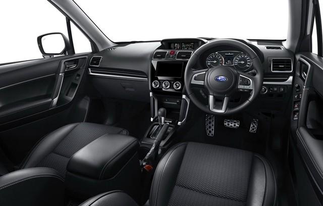 Không gian nội thất của xe Subaru Forester 2017 yên tĩnh hơn