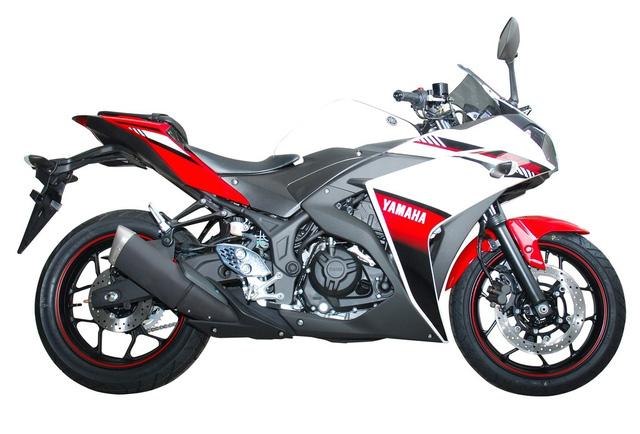 Xe Yamaha R25 ABS 2016 không có gì thay đổi đáng kể