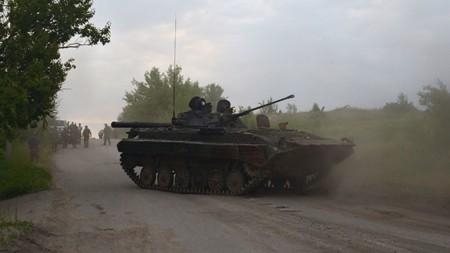 Xe tăng của quân đội Ukraine tại khu vực miền đông
