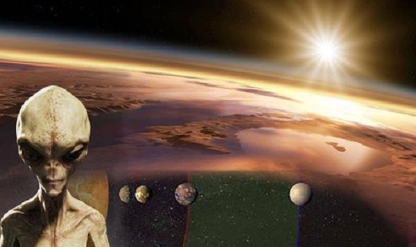 Người ngoài hành tinh đang tò mò về Trái Đất của chúng ta?. Ảnh Daily Express