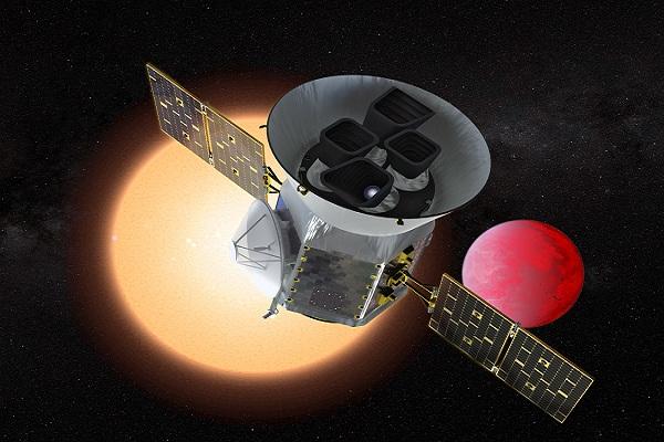 Hình minh họa kính viễn vọng của TESS: Ảnh: NASA-GSFC