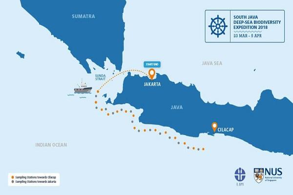 Đoàn thám hiểm khởi hành từ Jakarta, qua eo biển Sunda và cập cảng Cilacap của Indonesia, ở phía nam Tây Java. Ảnh: SJADES 2018.