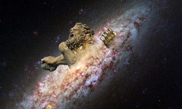 Một thiên hà khổng lồ vừa được phát hiện mở ra thời kỳ đầu hình thành dải Ngân hà của chúng ta. Ảnh: Phys