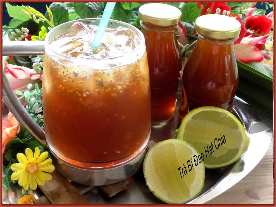 Cách làm trà bí đao hạt chia thơm ngon, giải nhiệt