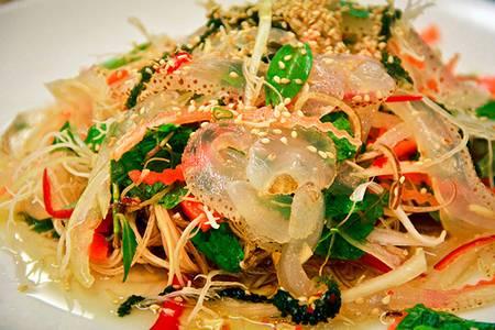 nộm sứa xoài xanh hoa chuối