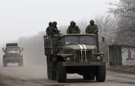 Giao tranh vẫn tiếp tục diễn ra ác liệt ở thị trấn Debaltseve