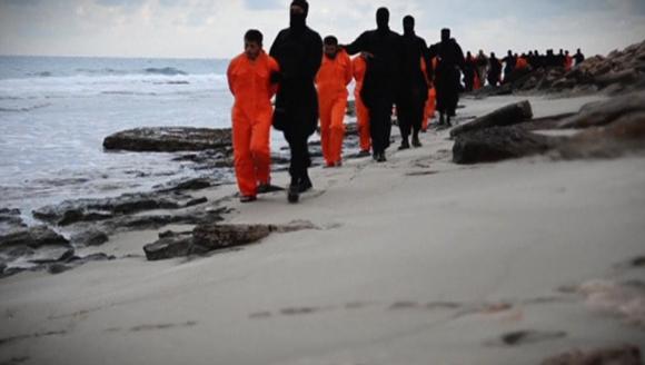 Các nạn nhân Ai Cập bị IS dẫn ra bờ biển và hành quyết tại đó