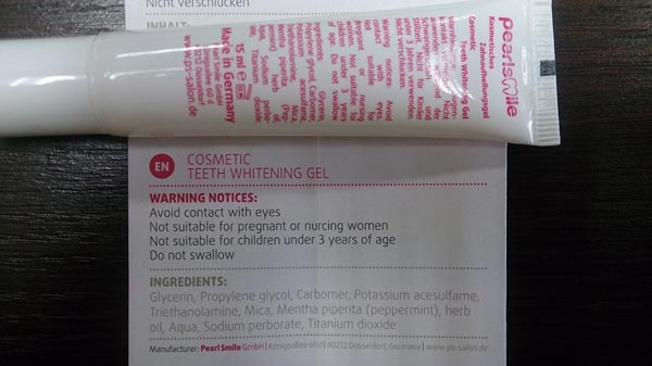 Thu hồi gel tẩy trắng răng chứa hóa chất gây kích ứng, viêm nướu