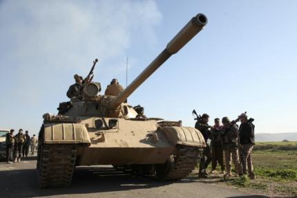 Lực lượng người Kurd ở ngoại ô thành phố Mosul