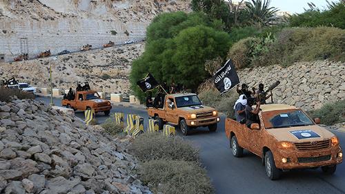 Chiến binh khủng bố IS tại Derna, đông Libya