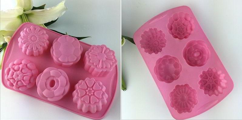 Khuôn bánh trung thu bằng chất liệu silicon dùng để làm bánh trung thu thạch