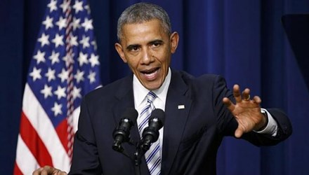 Tổng thống Mỹ Barack Obama phát biểu tại hội nghị quốc tế cấp cao về chống khủng bố hôm 18/2