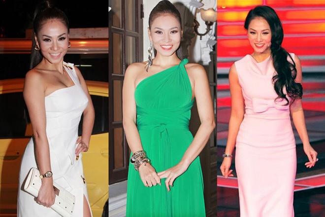 Thu Minh sang trọng với các dạng váy dài khi tham gia sự kiện