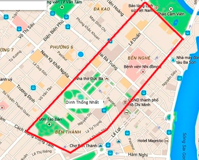 Sơ đồ các tuyến đường vành đai bị cấm trong những ngày tới