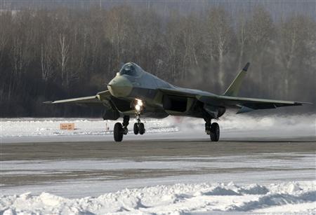 Chiến đấu cơ T-50 ở nhà máy Komsomolsk-on-Amur, vùng Viễn Đông Nga