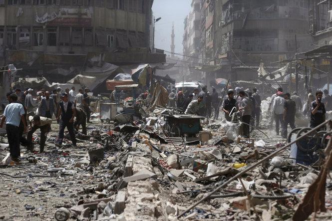 Hàng trăm người thương vong do tên lửa của quân đội Syria là tin tức về tình hình chiến sự Syria mới nhất ngày 31/10/2015