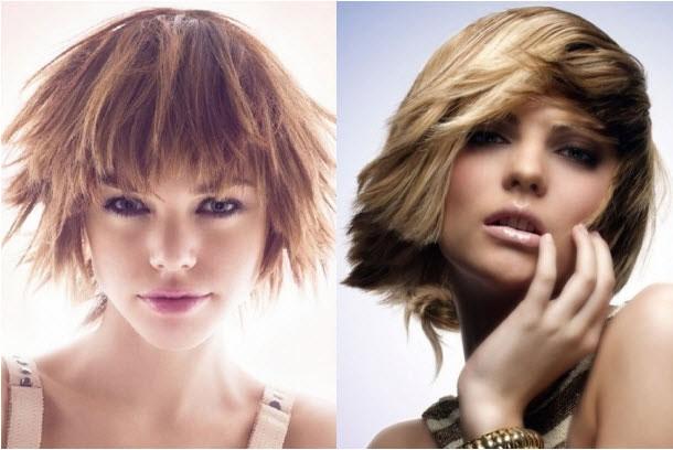 Kiểu tóc ngắn tỉa nhiều tầng với các độ dài khác nhau hẳn sẽ che đi khuyết điểm khuôn mặt tròn của bạn gái