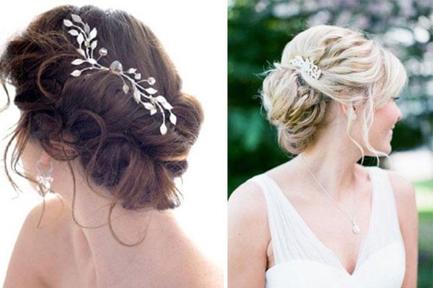 Kiểu tóc vẫn giúp các cô dâu có khuôn mặt tròn trở nên thanh thoát hơn
