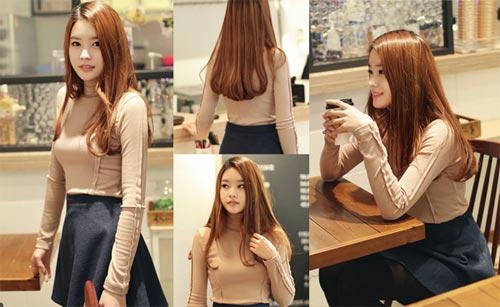 Kiểu tóc xoăn đuôi Hàn Quốc dễ dàng kết hợp với trang phục