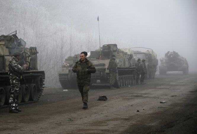 Lực lượng Ukraine đóng gần thị trấn Deblatseve