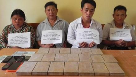 Vận chuyển 20 bánh ma túy, bốn đối tượng bị bắt