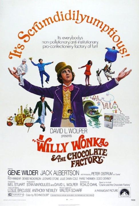 Poster phim Willy Wonka & The Chocolate Factory